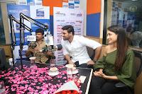 Pragya Jaiswal in a single Sleeves Off Shoulder Green Top Black Leggings promoting JJN Movie at Radio City 10.08.2017 004.JPG