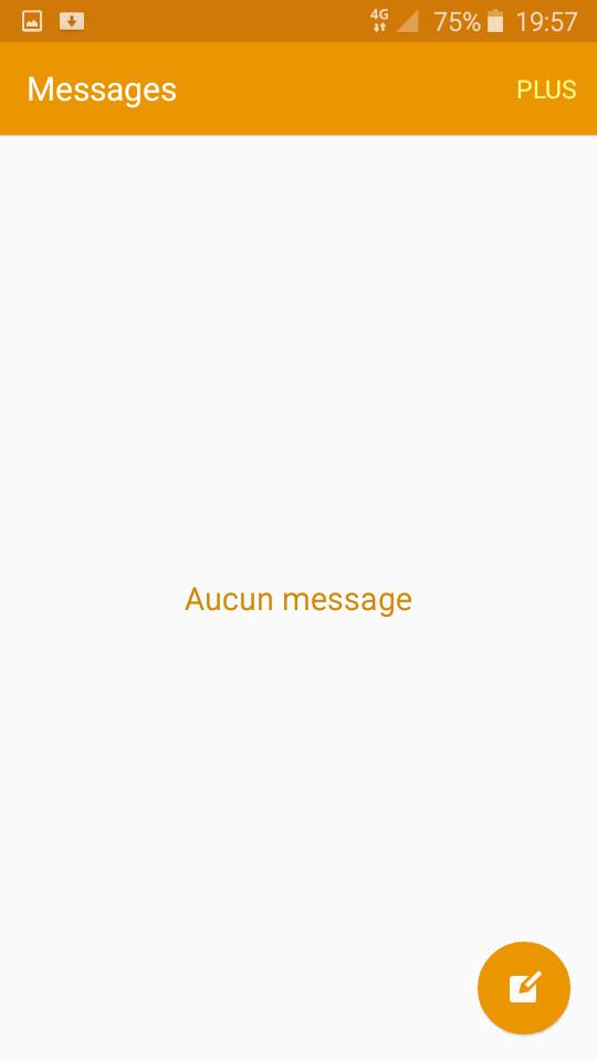 Message de samsung