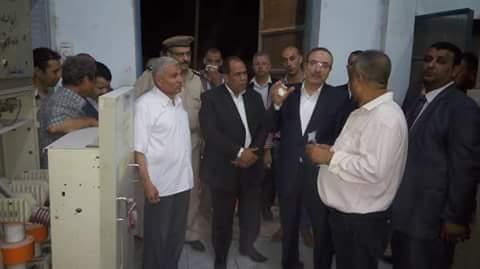 محافظ بنى سوبف يتابع أعمال اصلاحات محطة محولات اهناسيا عقب حدوث عطل