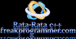 program menghitung nilai rata-rata pada c++