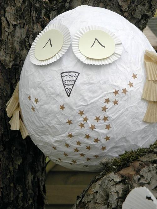 My Owl Barn Diy Paper Mache Owl Egg