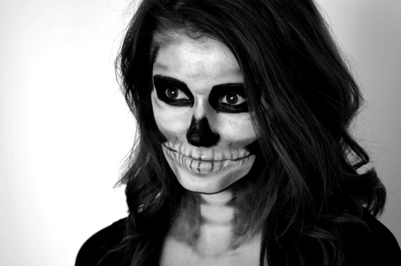 skeleton halloween makeup tutorial cappuccino and fashion. Black Bedroom Furniture Sets. Home Design Ideas