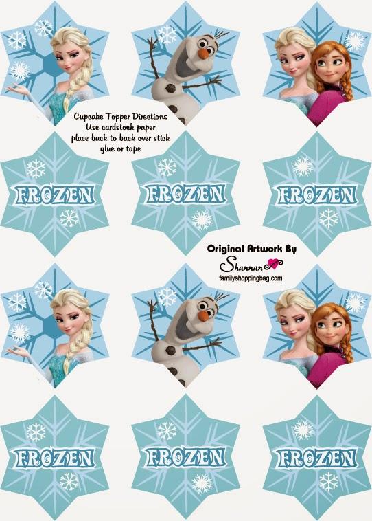 Toppers de Frozen para Imprimir Gratis.