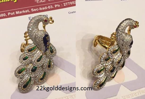 Peacock Design Ring