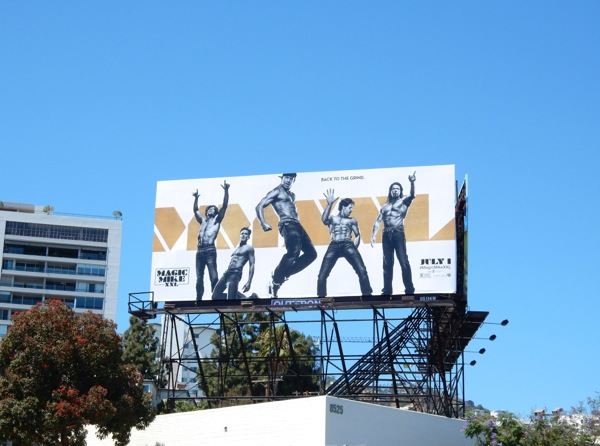 Magic Mike XXL film billboard