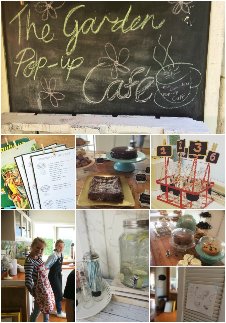 Our pop up cafe had an eclectic vintage style