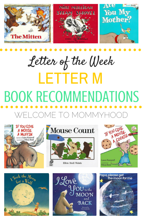 Tot Labs presents Letter of the Week: Letter Mm book recommendations by Welcome to Mommyhood, #preschoolactivities, #montessoriactivities, #montessori, #handsonlearning, #letteroftheweek, #lotw, #freeprintables