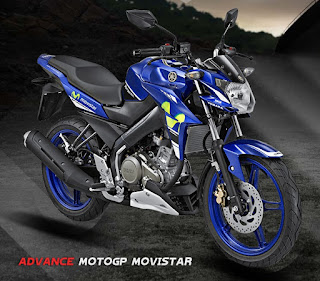 Yamaha Vixion Advance Livery MotoGP Movistar