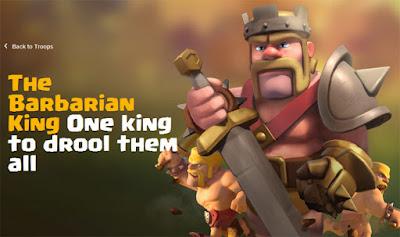Rincian informasi strategi dan biaya upgrade Barbarian King di COC