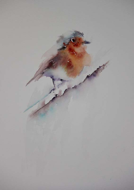 Watercolours With Life Robin In Watercolour 2016