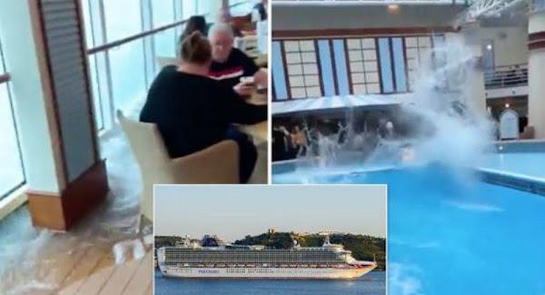 Βρετανοί: Το πλοίο πλημμυρίζει νερά κι αυτοί ατάραχοι πίνουν μπύρες - Βίντεο