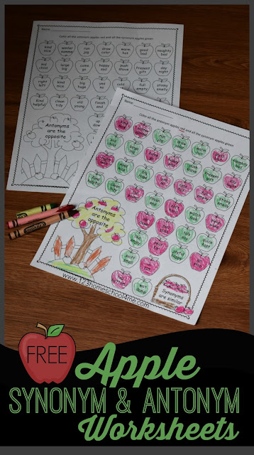 Apple-worksheets-Synonyms-Antonyms-free-printable