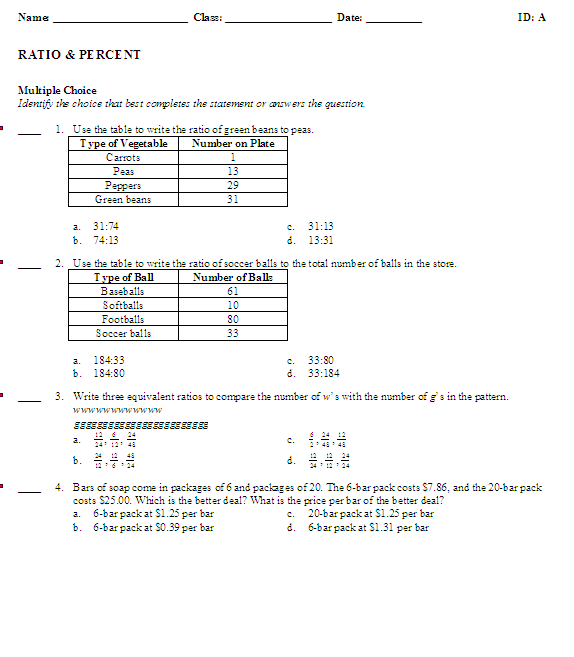 Mrs White 39 S 6th Grade Math Blog Ratios Percents Review