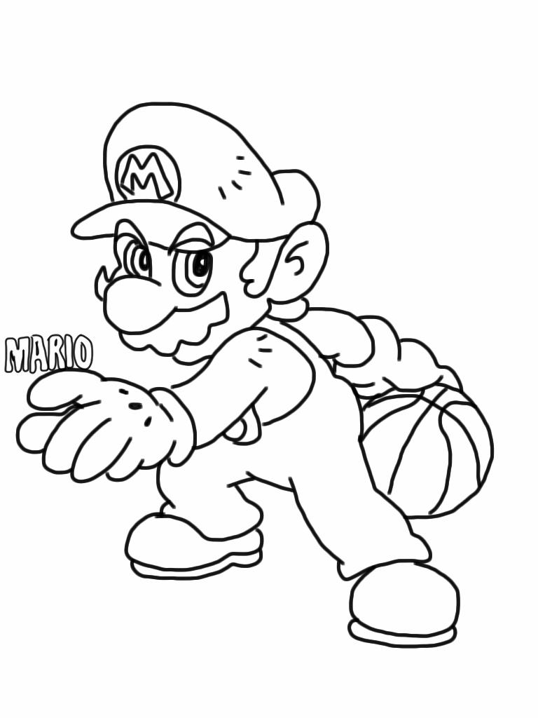 Mario Coloring Pages Fantasy