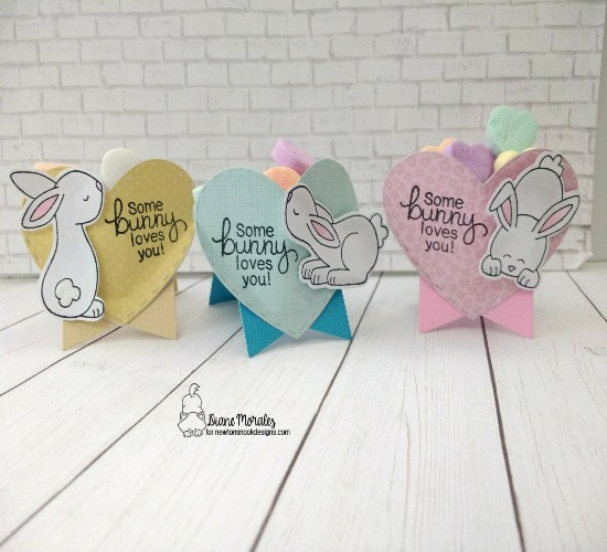 Some bunny loves you by Diane features Bitty Bunnies, Darling Hearts, and Frames & Flags by Newton's Nook Designs; #newtonsnook