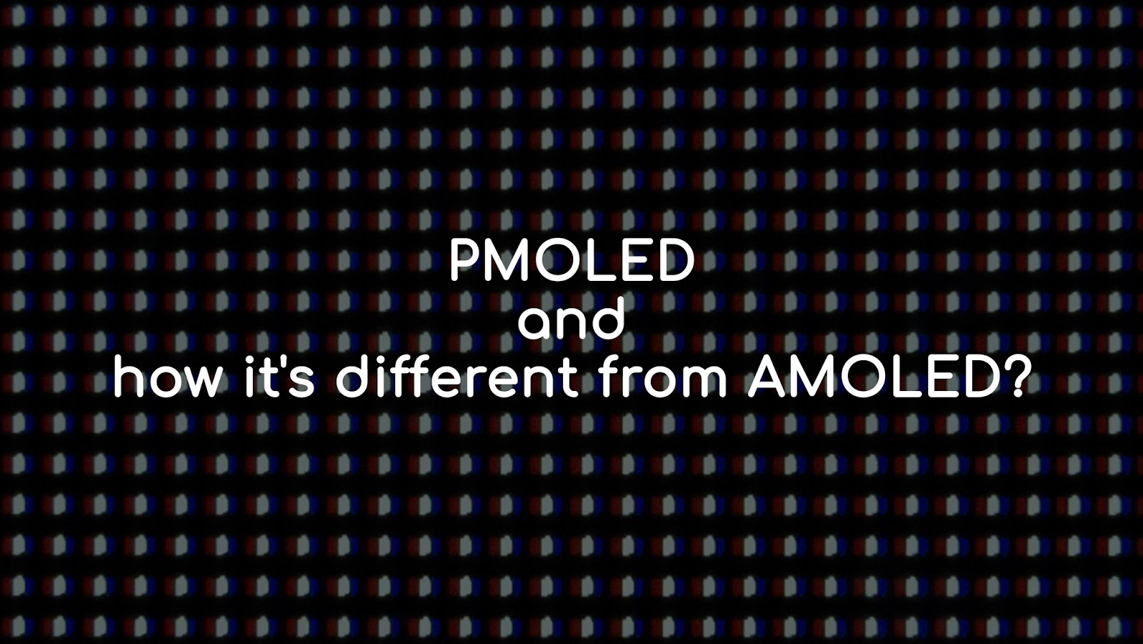 PMOLED display