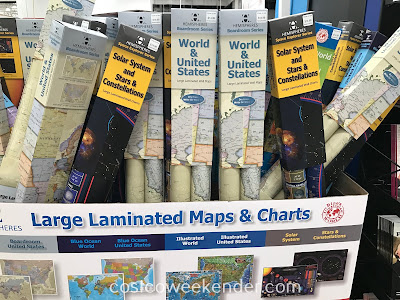 Make learning geography and science fun for your child with Hemispheres Large Laminated Wall Maps & Charts