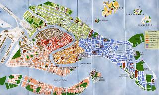 Sestieri o distritos de Venecia.