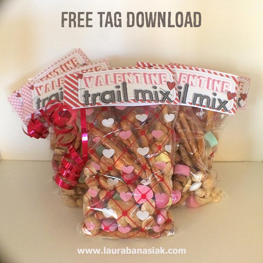 Valentine Trail Mix Printable Tag Freebie