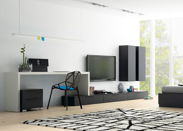 Cocinas armarios puertas parquet ideas de decoraci n - Escritorio salon ...