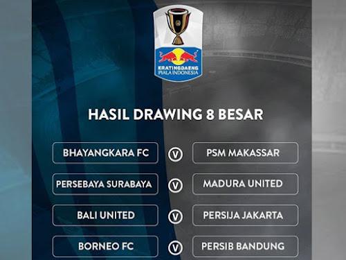 Jadwal 8 besar Piala Indonesia 2018