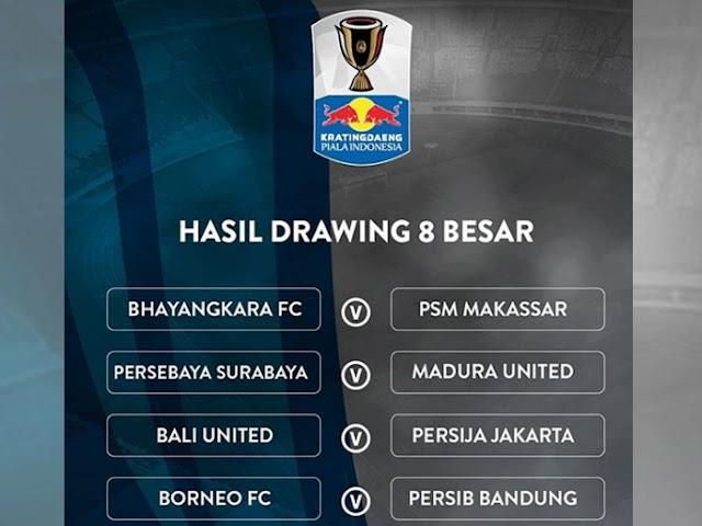Inilah Lawan Persib di Babak 8 Besar Piala Indonesia 2018