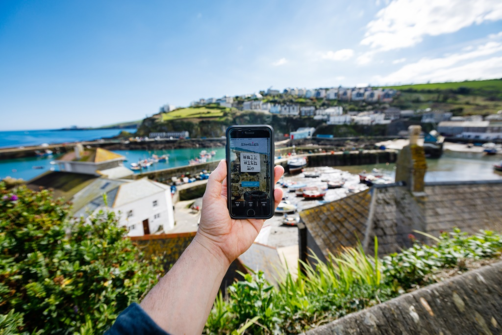 Story telling triggered by GPS as you walk around cornwall