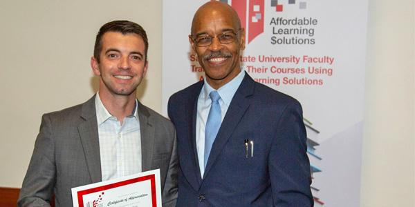 Dr. Chris Brum and Provost Johnson