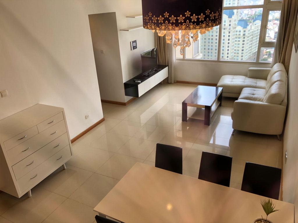 Saigon Pearl Sapphire 2 cho thuê căn hộ tầng 21 dt 92m2 giá thuê $800