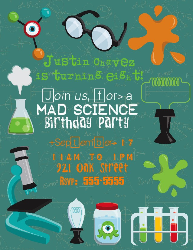 Mad Scientist Party Favors