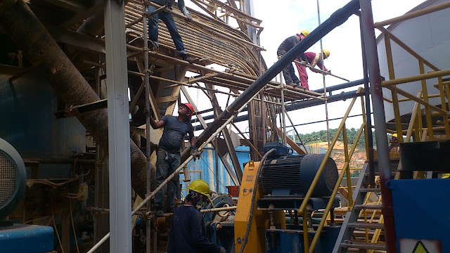 Australian Gold Mining in Raub Pahang - 01 Scaffold Erection