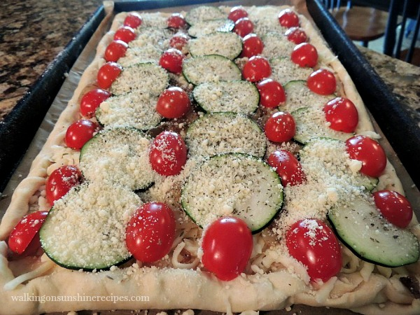 Uncooked Zucchini and Tomato Tart from Walking on Sunshine