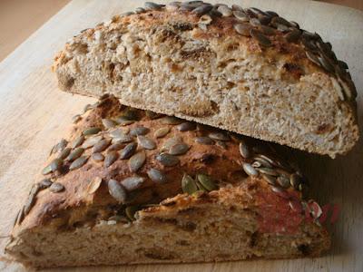 nancl: [Backen瘋烘焙]五穀雜糧麵包(一)