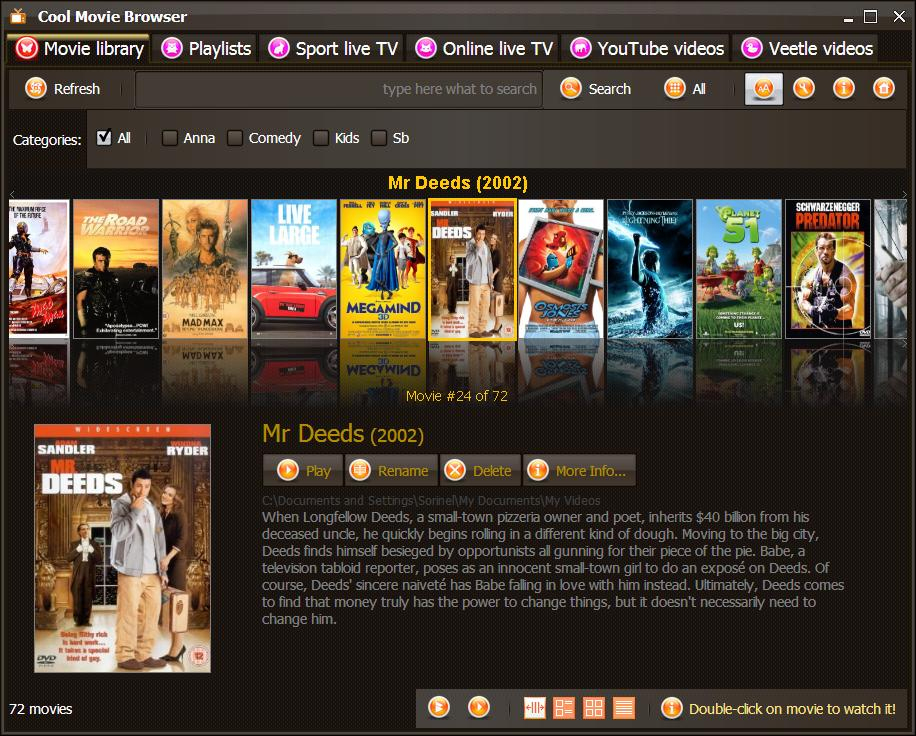 Cool Movie Browser: Cool Movie Browser allows you access all