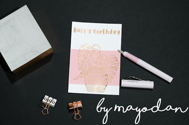 anzeige diy geburtstagskarten in rosa passend zum schneider base ros mayodans home. Black Bedroom Furniture Sets. Home Design Ideas