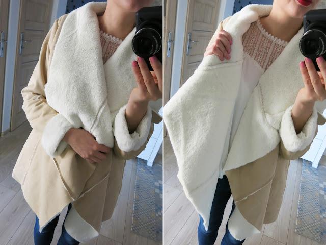 kożuszek płaszcz SheIn sklep