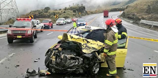 accidente via papallacta muerto heridos
