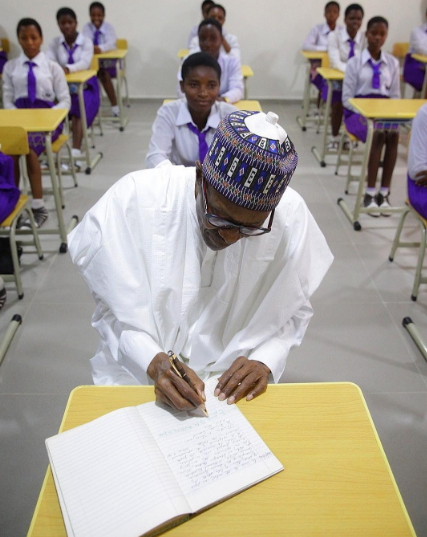 buhari inside classroom edo state