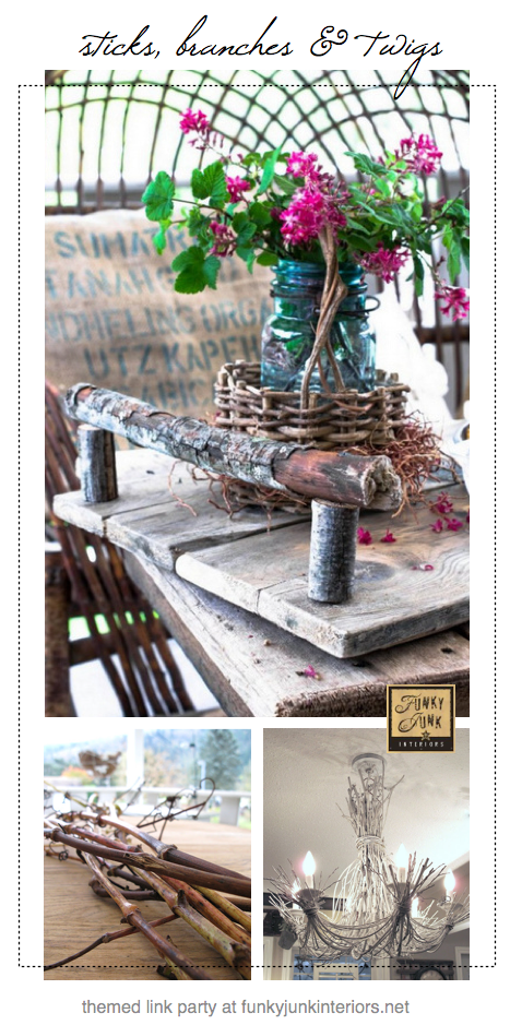 sticks branches and twig projects via Funky Junk Interiors