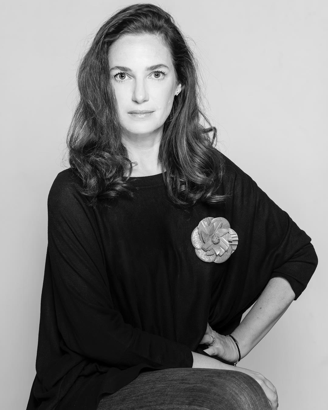 Foto de Vanina Rosenthal en blanco y negro