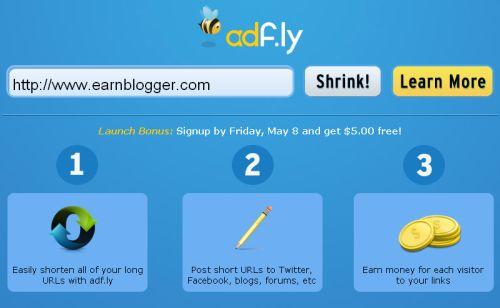 Adf.ly, un acortador de enlaces para ganar dinero con tu blog 1