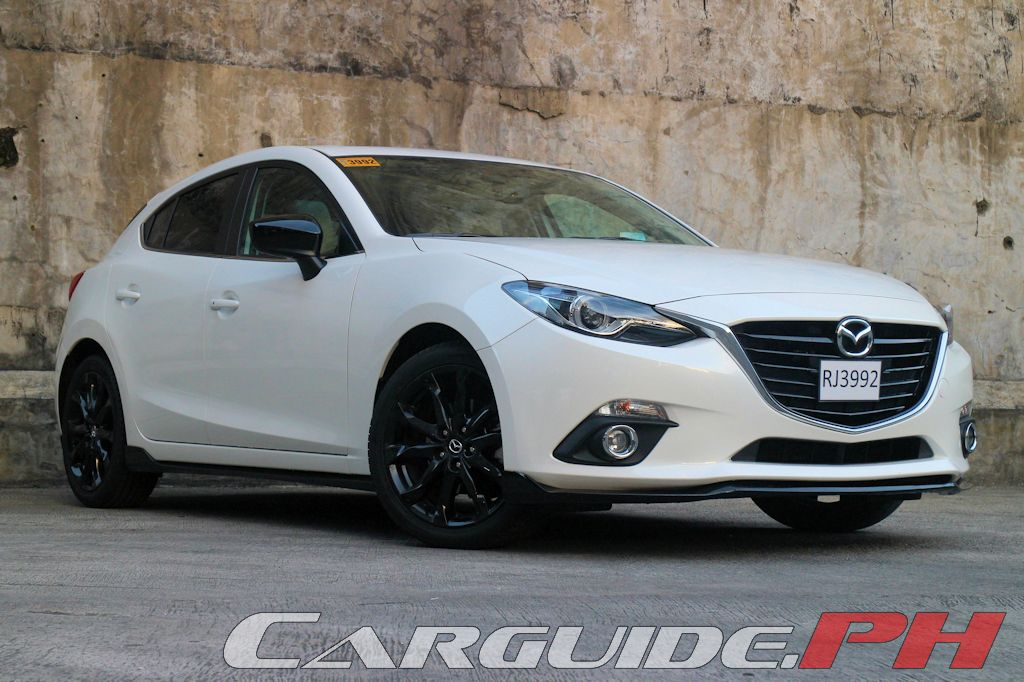2014 mazda 3 white with black rims. Black Bedroom Furniture Sets. Home Design Ideas