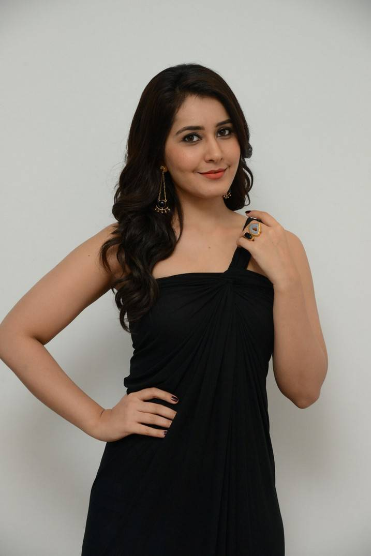 Rashi Khanna Latest Hot Stills In Black Dress