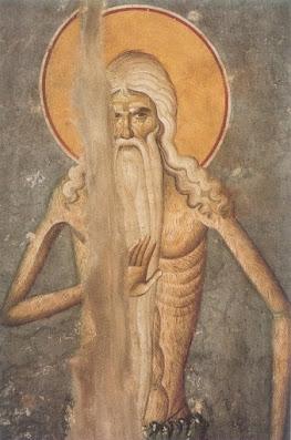 όσιος Πέτρος Αθωνίτης Αγιογραφία του κυρ-Μανουήλ Πανσέληνου (1290-1320) στο Πρωτάτο του Αγίου Όρους, Καρυές.