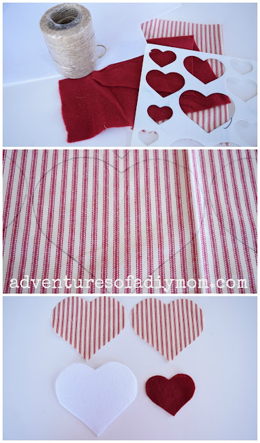 Fabric Heart Valentine