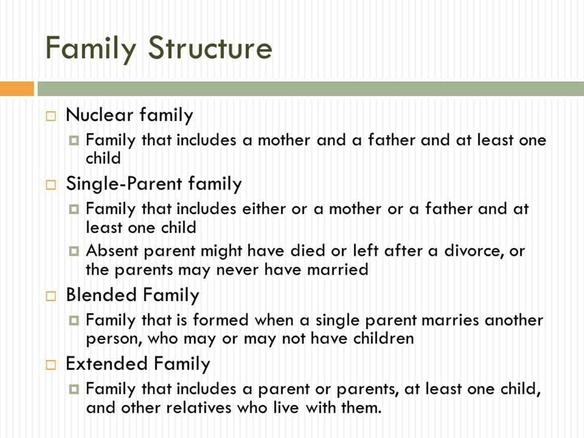 what is the definition of family structure