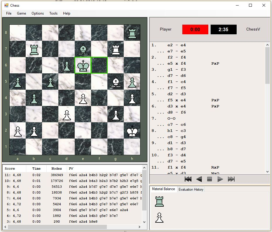 Chess Engines Diary: ChessV 2 1 - universal chess program with a