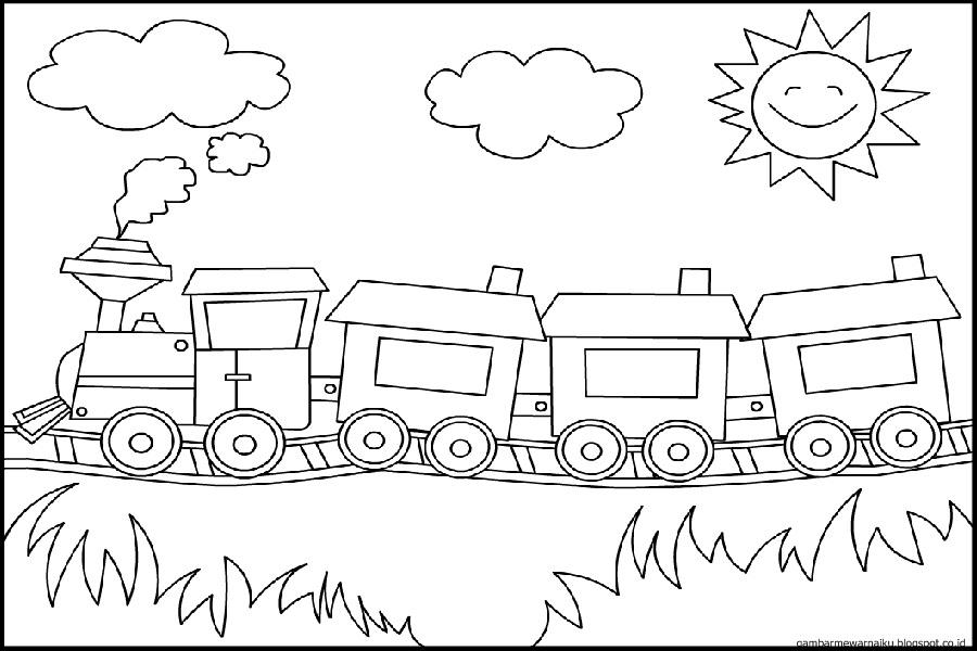 Gambar Kereta Api Untuk Mewarnai Ilmu Pengetahuan 1 Mewarnai Kereta Api