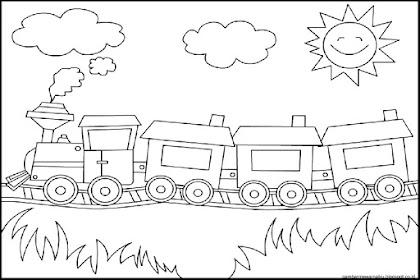Gambar Kereta Api Mewarnai