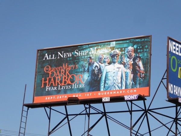 Queen Mary Dark Harbor Halloween 2017 billboard